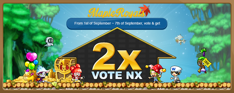 Event - 2x Vote NX | MapleRoyals